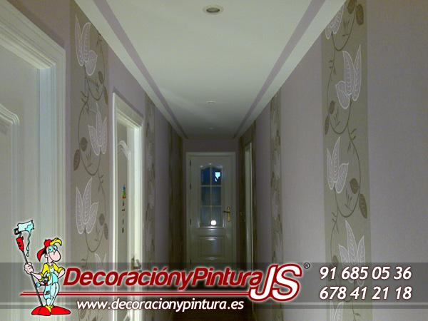Papeles pintados y vinilos pintores en madrid - Papel pintado pasillo ...